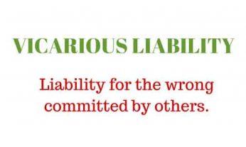 Liability, Vicarious Liability