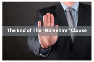 end of no rehire clause